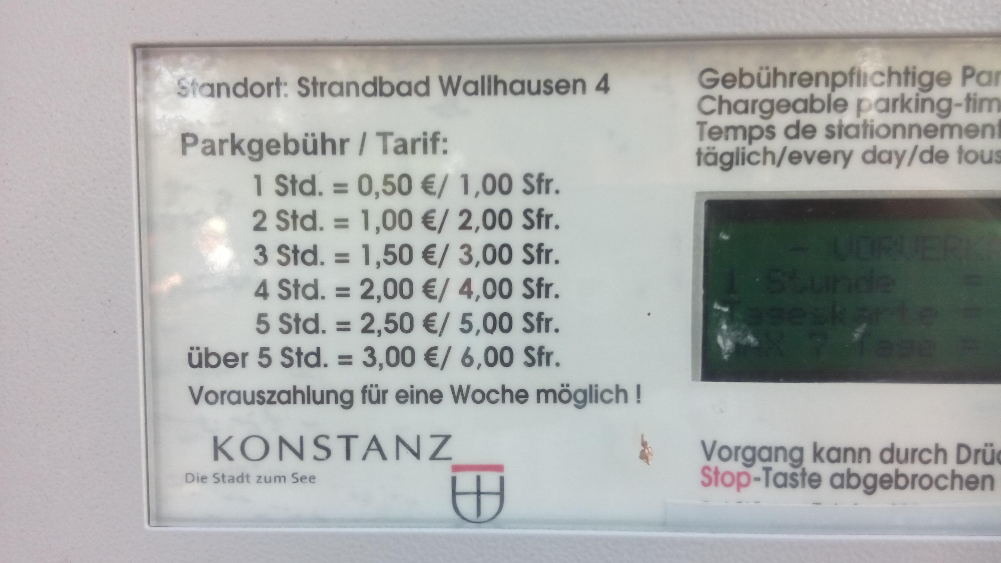 Kostenfrei eParken: Strandbad Wallhausen, Konstanz